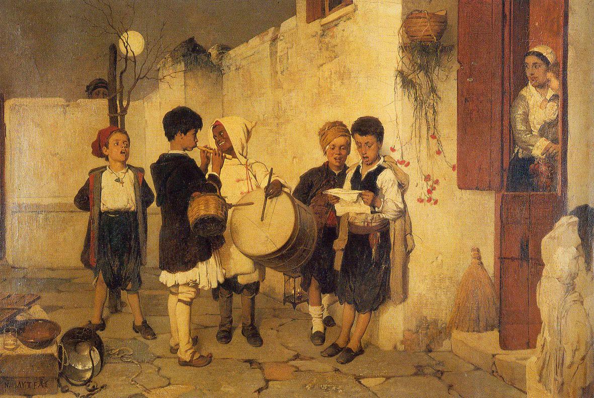 O Come, O Come Emmanuel - Marktsack, mittelalterlicher Dudelsack, Weihnachtslieder