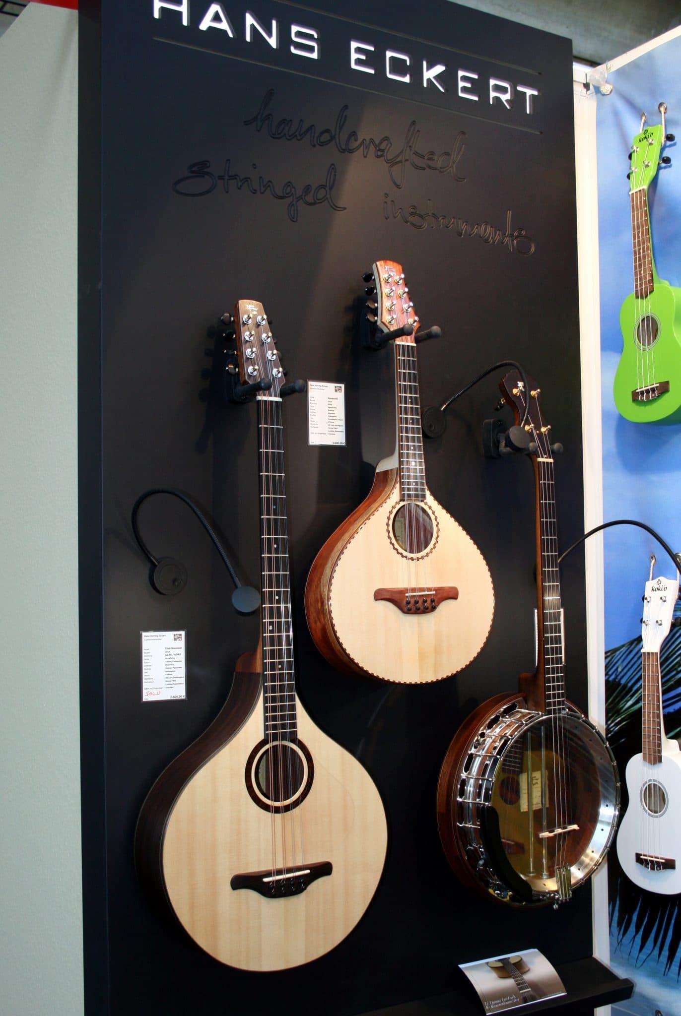 Traditionelle Folk Instrumente von Hans Eckert auf der Musikmesse 2016