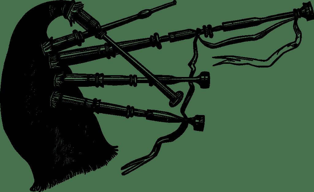 Dudelsack Zeichnung in schwarz-weiss