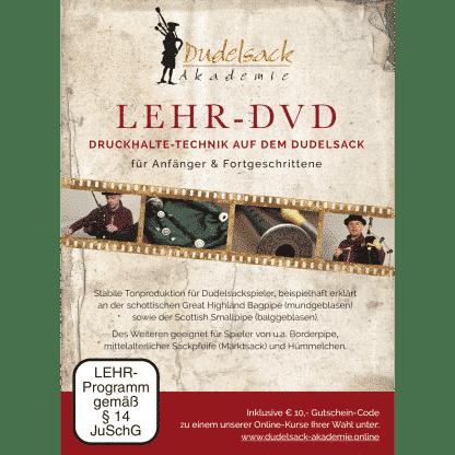 """Cover Rückseite """"Lehr-DVD: Druckhalte-Technik auf dem Dudelsack - für Anfänger & Fortgeschrittene"""""""